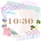 Cute and girly Clock Widget icon