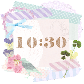 Cute and girly Clock Widget