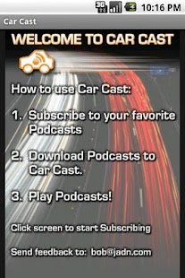 Car Cast Pro - Podcast Player - screenshot thumbnail