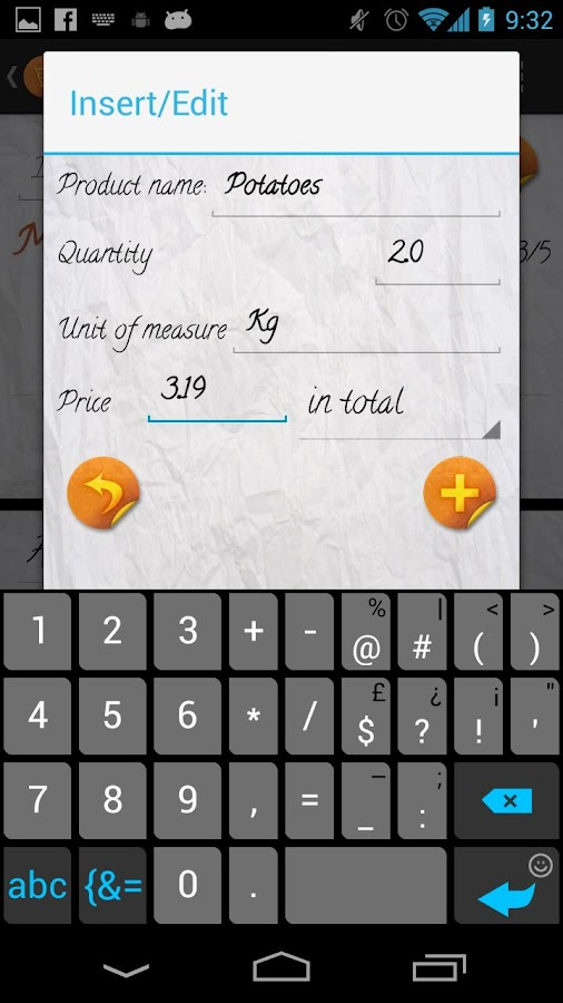 Easy Shopping List - screenshot