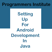 Android Programming Java Setup