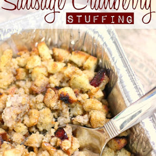 Sausage Cranberry Stuffing.