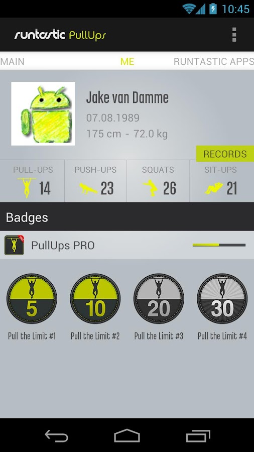 Runtastic Pull-ups Workout PRO - screenshot