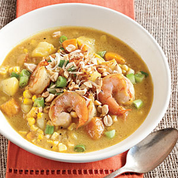 Curried Shrimp-and-Corn Chowder Recipe