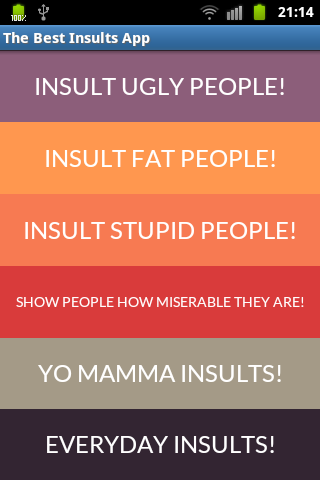 Best Insults And Angry Sayings - screenshot