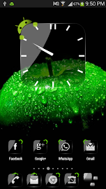 Crystal Black Clock Widget Screenshot 2