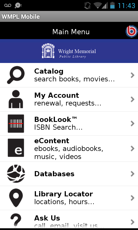 Wright Memorial Public Library- screenshot