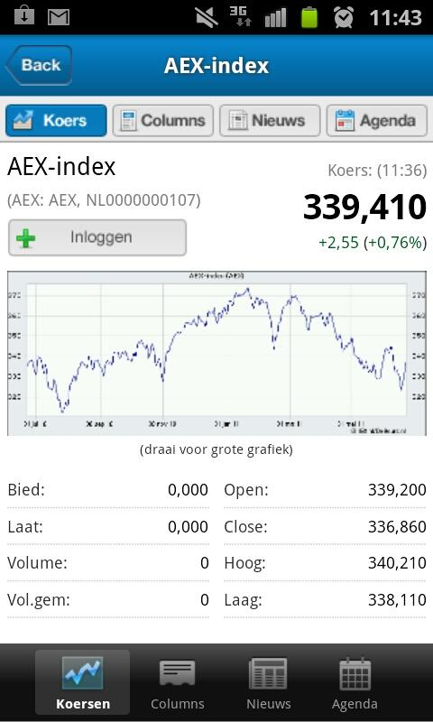 IEX.nl Beleggingsinformatie - screenshot