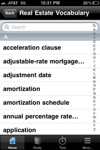 Real Estate Vocabulary Review- screenshot