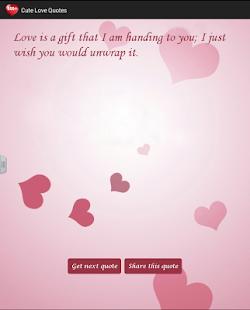 Cute Love Quotes - screenshot thumbnail
