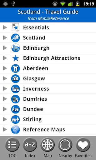 Scotland UK FREE Guide Map