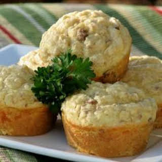 Savory Sausage, Cheese and Oat Muffins.