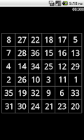 Screenshot of Schulte Table