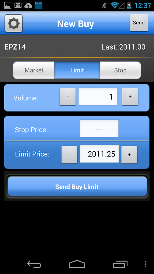 Options futures trading game