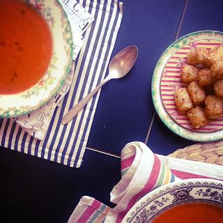 Tomato Zucchini Soup.