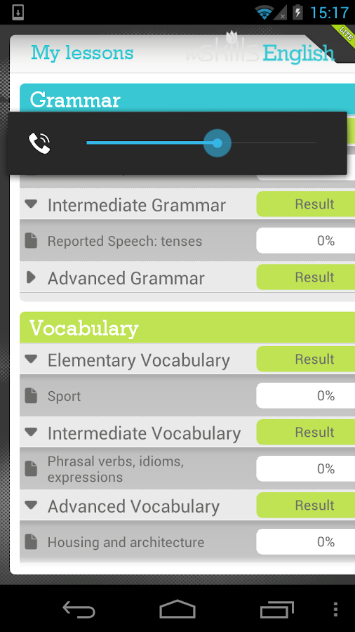 mSkills English Lite - screenshot