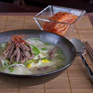 Rice Cake Soup (tteok-guk).