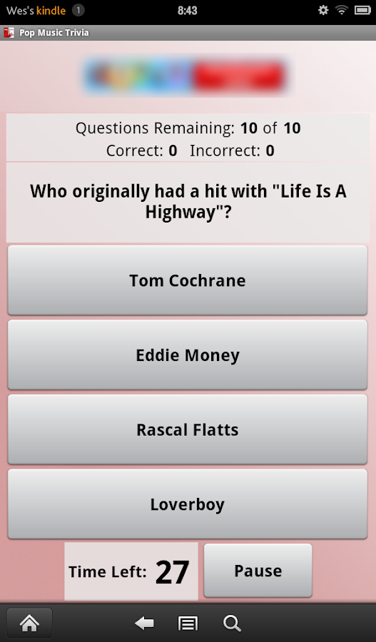 Pop Music Trivia- screenshot