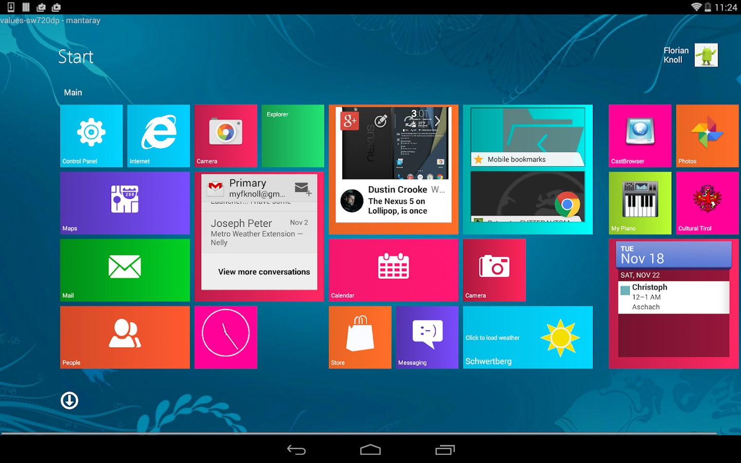 Metro UI Launcher 8.1 Pro- screenshot