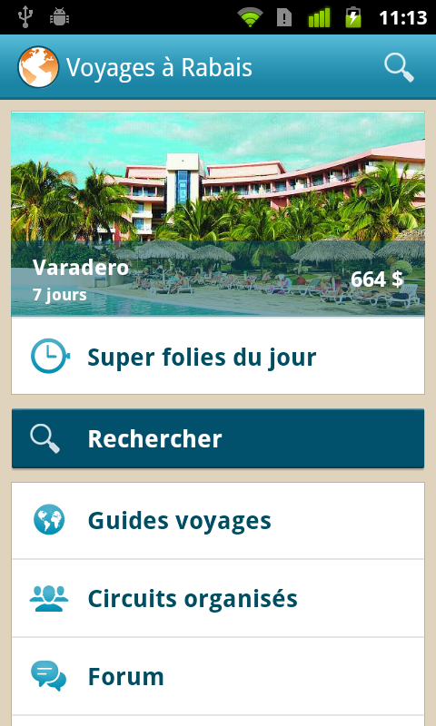 Voyages à Rabais- screenshot