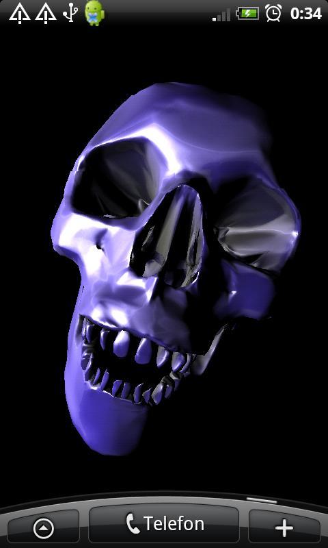 Skull 3D Wallpaper - screenshot