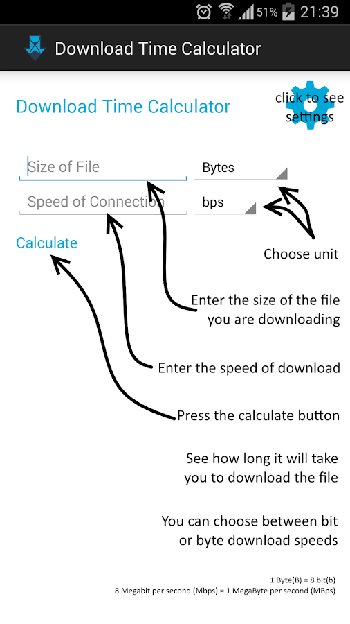download time calculator