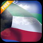 3D Kuwait Flag Live Wallpaper icon