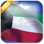 3D Kuwait Flag Live Wallpaper