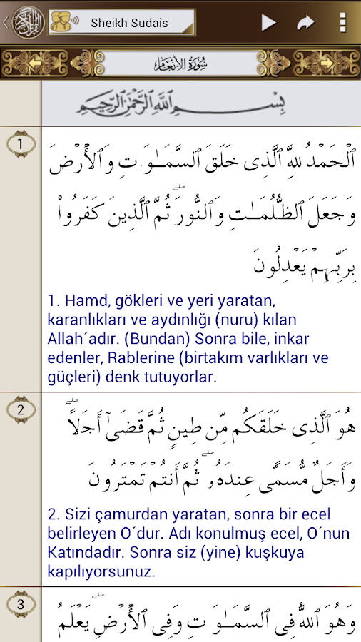 Al Quran (Turkish) Al Sudais - screenshot