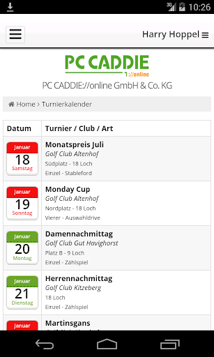 PC CADDIE Golf Club App 2.3.0 screenshots 3