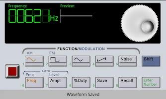 Screenshot of Waveform Generator Demo