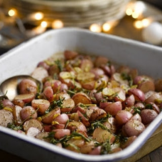 Roasted Radishes With Garlic And Rosemary.