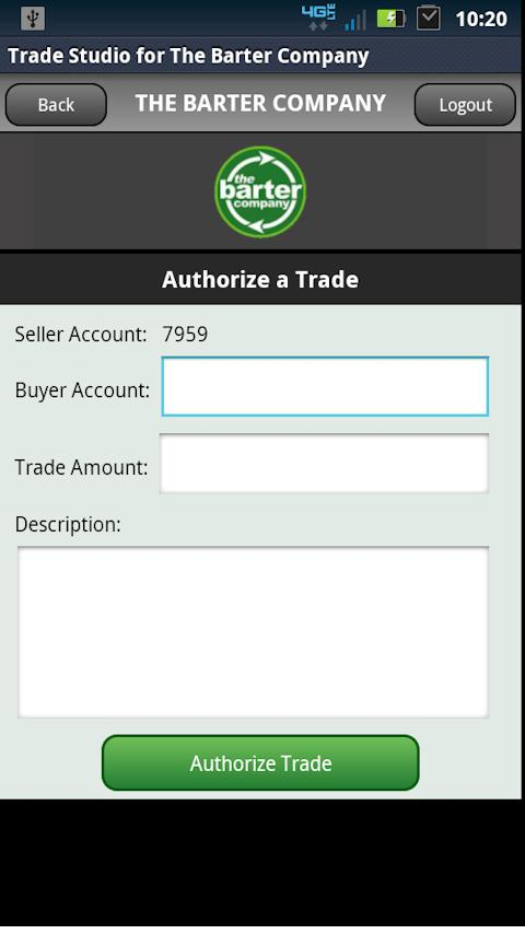Trade Studio - Barter Company - screenshot