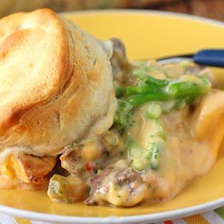 Cheesy Steak and Potato Casserole.