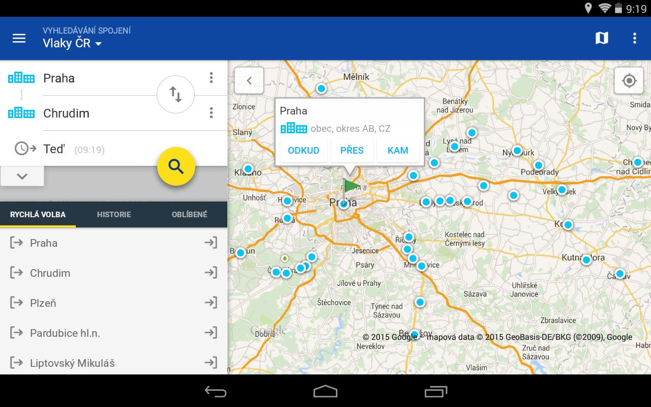 CG Transit offline jízdní řády - screenshot