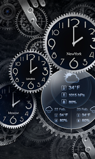 Black Clock Live Wallpaper HD- screenshot thumbnail