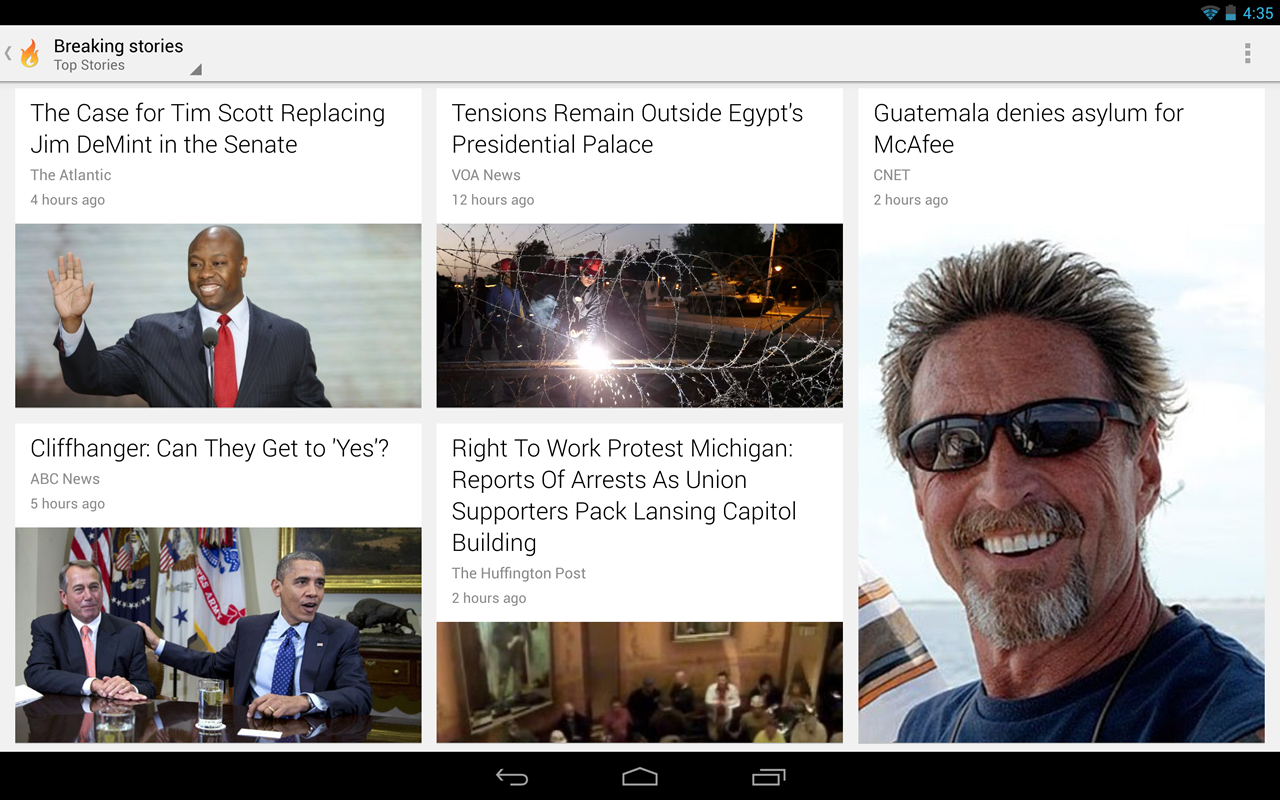 Google Currents - screenshot