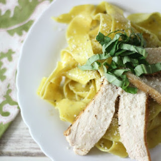 Pappardelle Pasta with Lemon Chicken.