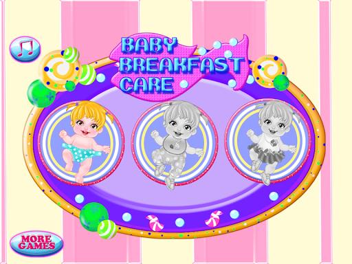 宝宝早餐游戏的女孩