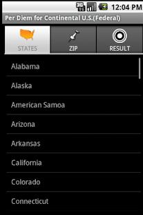 Per Diem for U.S. (Federal)- screenshot thumbnail