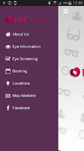HCF Eyecare App- screenshot thumbnail
