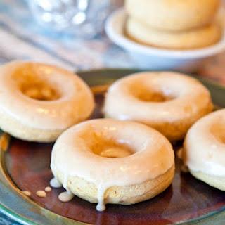 Baked Vanilla Donuts with Vanilla Glaze