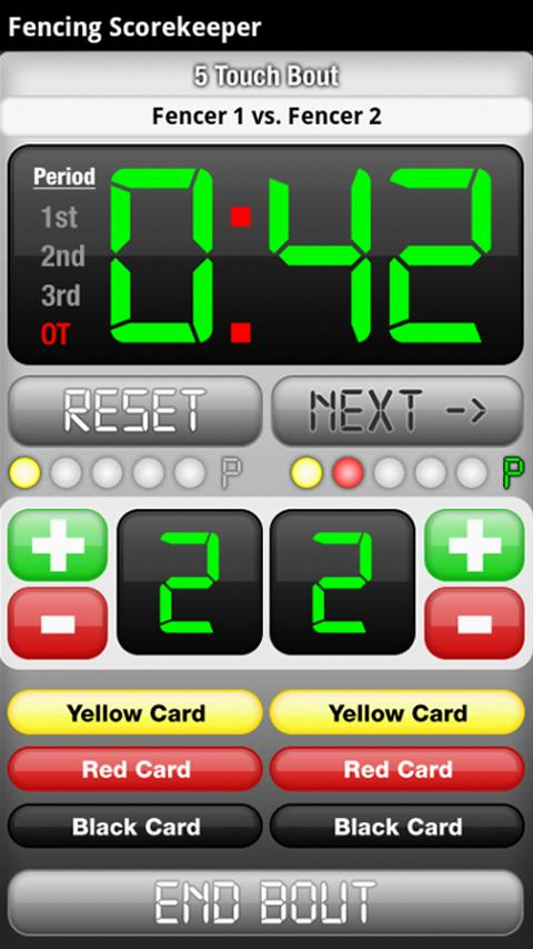 Fencing ScoreKeeper FREE - screenshot