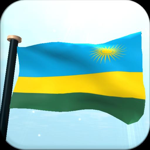 Rwanda Flag 3D Free Wallpaper