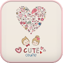 Cute couple go launcher theme icon