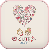 Cute couple go launcher theme