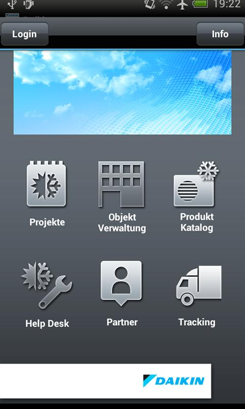 DAIKIN to go - screenshot