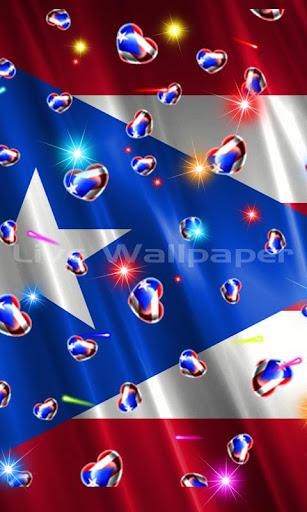 Puerto Rico Heart Flag