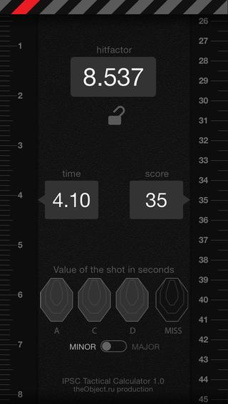 IPSC Tactical Calculator- screenshot
