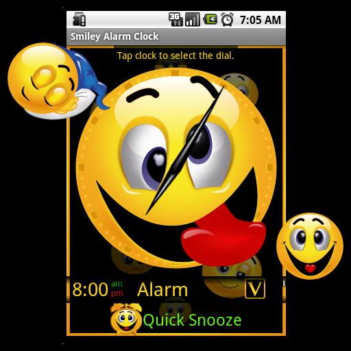 Smiley Alarm Clock Widget